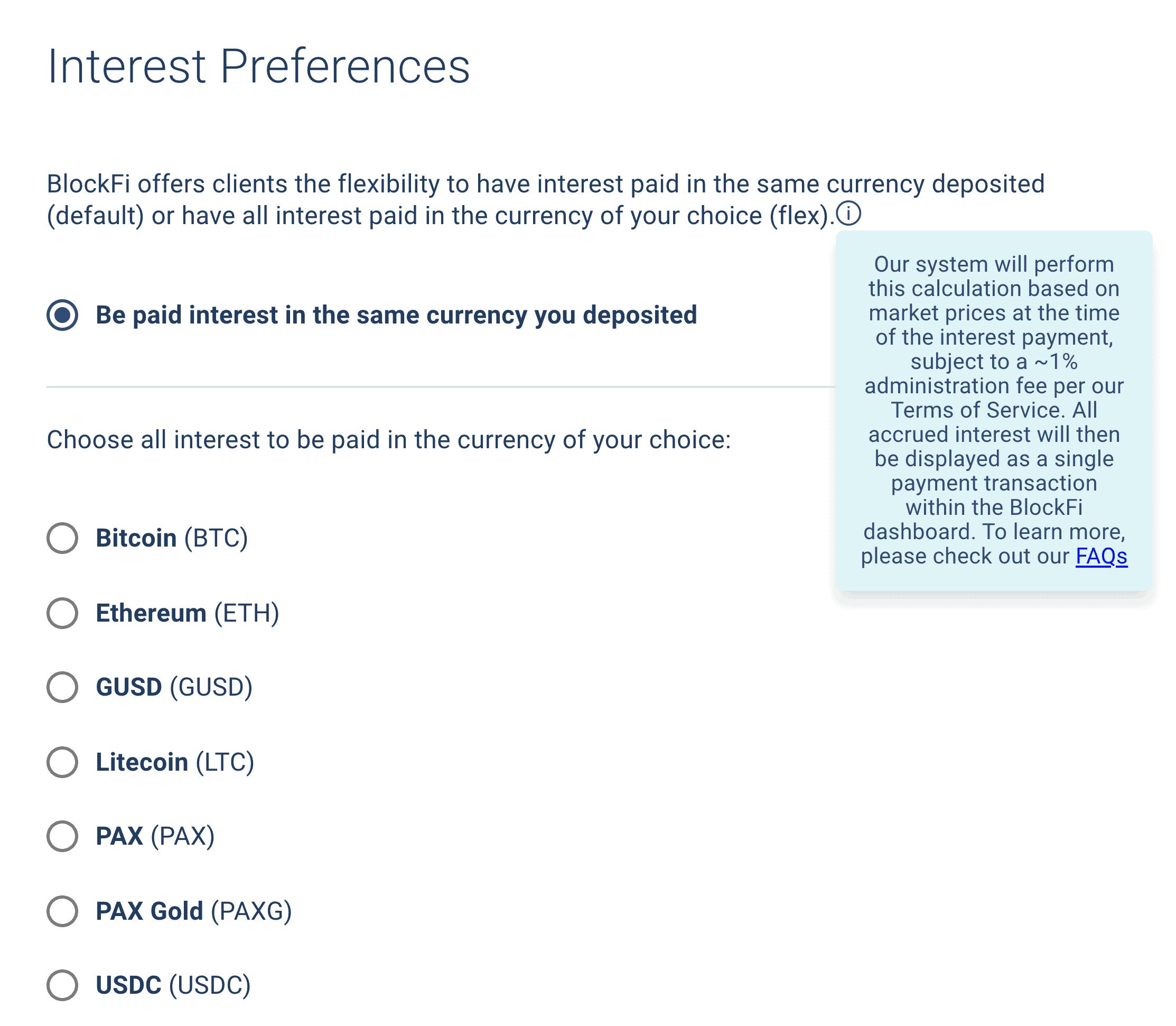 BlockFi interest preferences