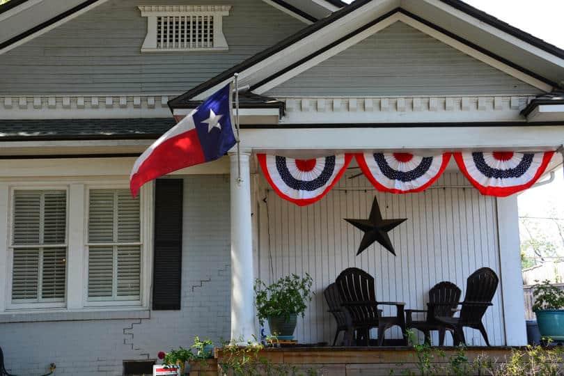 Dallas Building With Texas Flag
